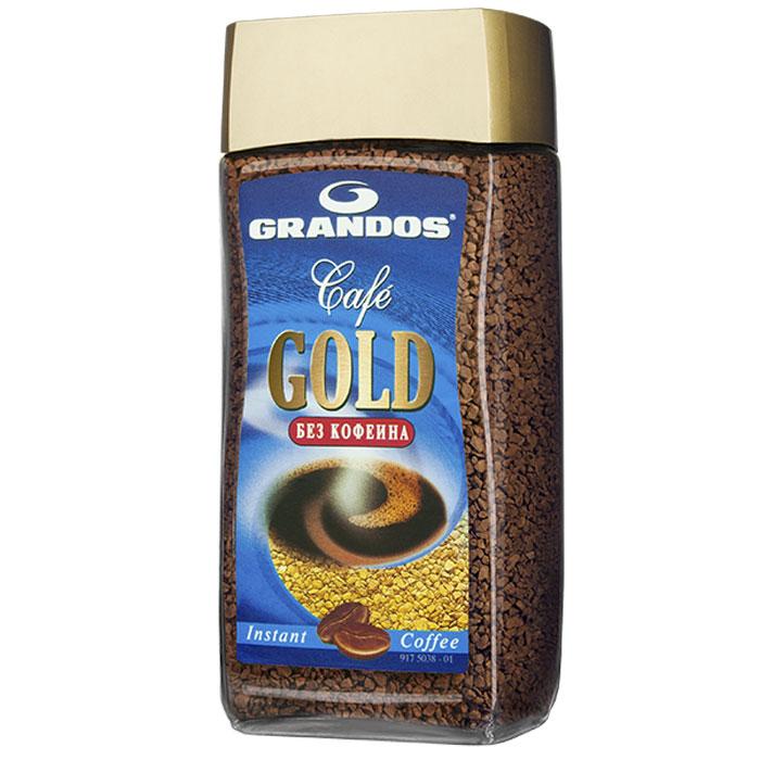 Grandos Gold Decaf кофе растворимый, 100 г0120710Высококачественный кофе без кофеина Grandos Gold подарит вам наслаждение ароматом и вкусом любимого кофе в любое время суток.