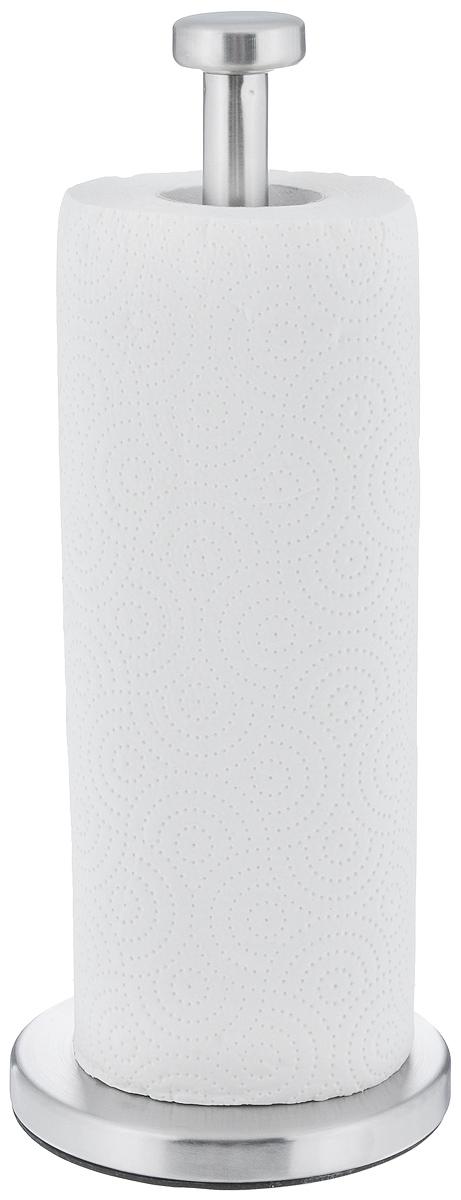 Держатель для бумажных полотенец Zeller. 2724221395599Держатель для бумажных полотенец Zeller изготовлен из металла с хромированной поверхностью. Круглое основание обеспечивает устойчивость подставки. Вы можете установить ее в любом удобном месте. Держатель подходит для всех видов кухонных полотенец.Такой держатель для бумажных полотенец станет полезным аксессуаром в домашнем быту и идеально впишется в интерьер современной кухни.В комплекте с держателем - рулон бумажных полотенец для рук.Диаметр основания держателя: 13 см.Высота держателя: 33,5 см.