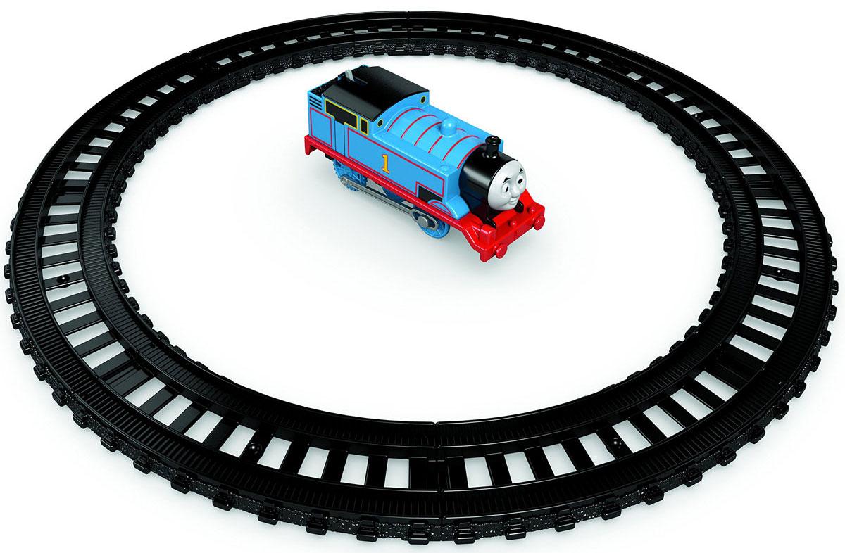 """Игрушка My First Thomas & Friends """"TrackMaster. Стартовый набор"""" представляет собой железную дорогу Томаса. Это идеальная возможность начать путешествие с набором или пополнить уже имеющуюся коллекцию! В набор входит 8 элементов железной дороги и механический паровозик Томас. Можно построить кольцевую железную дорогу для Томаса или скомбинировать игровой набор с другими железнодорожными участками."""