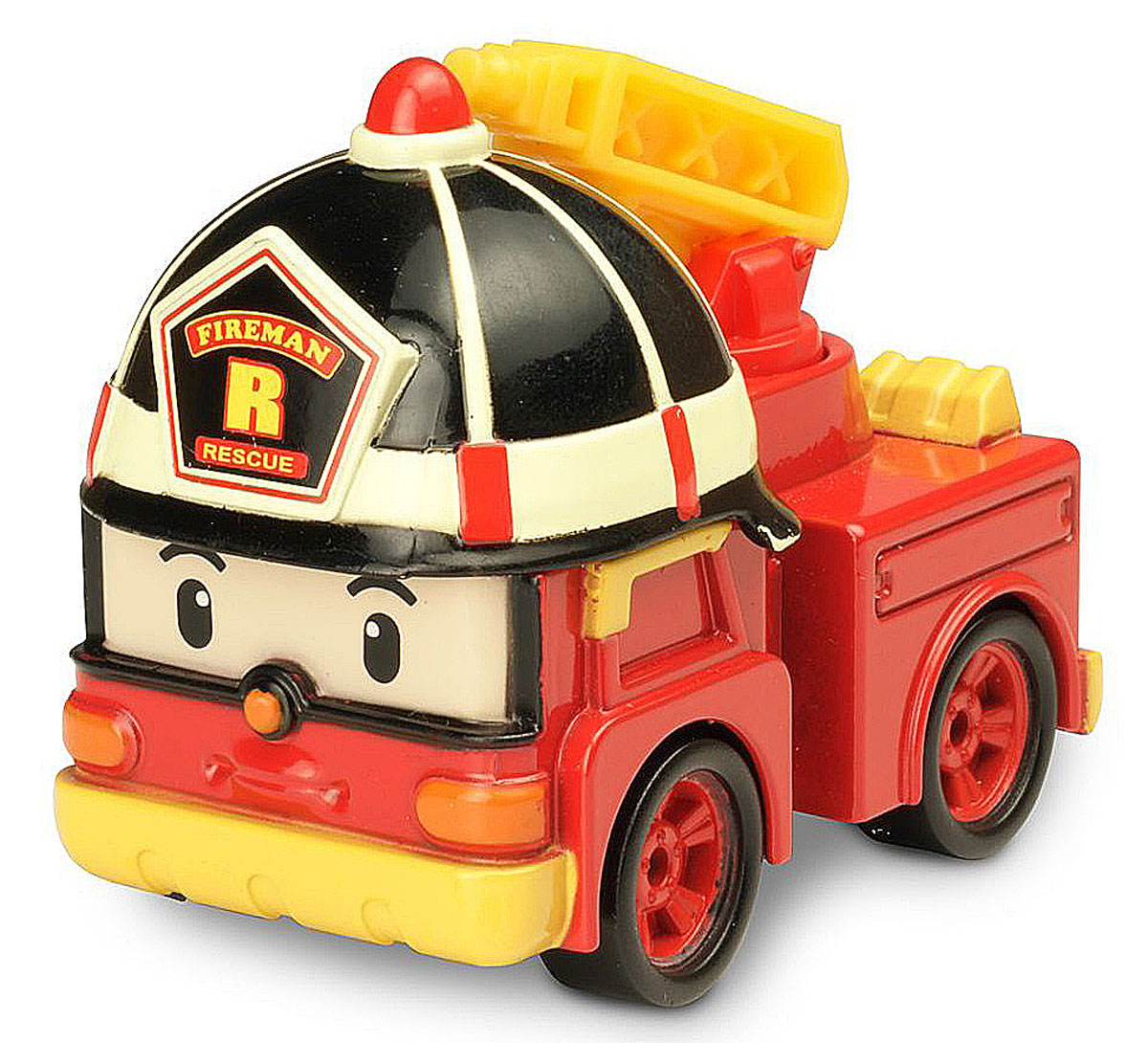 """Яркая игрушка Poli """"Пожарная машинка Рой"""" непременно понравится вашему малышу. Она выполнена из металла с элементами пластика в виде пожарной машинки Роя - персонажа популярного мультсериала """"Robocar Poli"""". Рой оснащен поднимающимся элементов в виде лестницы и колесиками со свободным ходом, позволяющими катать машинку. Благодаря небольшому размеру ребенок сможет взять игрушку с собой на прогулку, в поездку или в гости. Порадуйте своего малыша таким замечательным подарком!"""