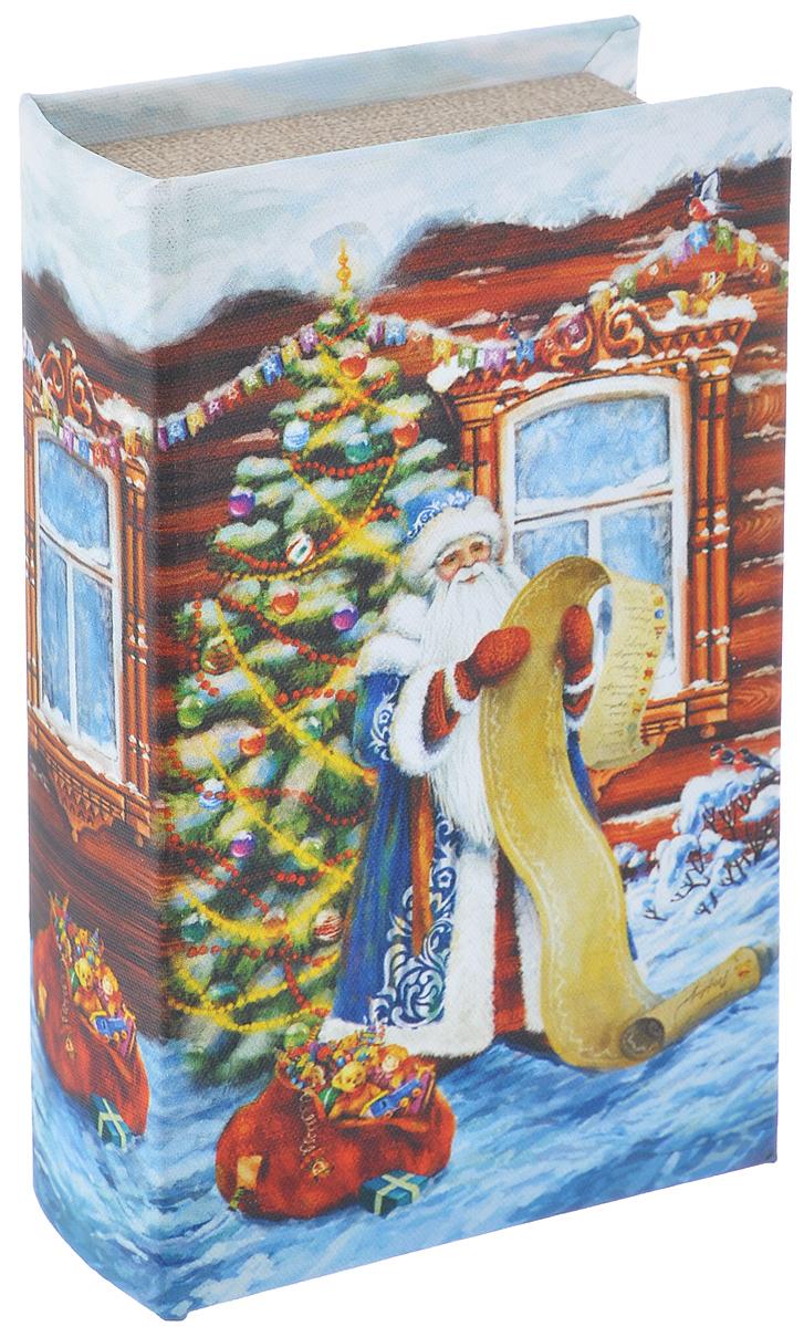 Шкатулка декоративная Феникс-презент Дед Мороз со списком, 17 см х 11 см х 5 смБрелок для ключейДекоративная шкатулка Феникс-презент Дед Мороз со списком, выполненная из МДФ, не оставит равнодушным ни одного любителя красивых вещей. Изделие украшено оригинальным рисунком и закрывается на магнит. Такая шкатулка может использоваться для хранения бижутерии, в качестве украшения интерьера, а также послужит хорошим подарком для человека, ценящего практичные и оригинальные вещи.