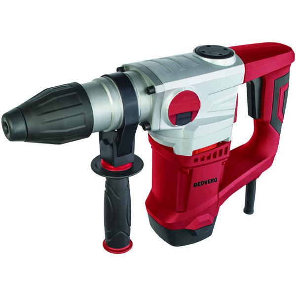 Перфоратор RedVerg RD-RH1100ст12Перфоратор RedVerg RD-RH110 используется для сверления с ударом в кирпиче, камне и бетоне, а также сверлении без удара в керамике, стали, дереве, синтетических материалах. Конструкция инструмента позволяет эксплуатировать его продолжительное время без сильного износа. При заклинивании насадок, предохранительная муфта отключает вращение в перфораторе. Если произошло застревание сверла, можно использовать режим реверса. Специальная система контроля смазки позволяет облегчить обслуживание ударного механизма и трущихся деталей. Преимуществом перфоратора RedVerg RD-RH110 является наличие дополнительной антивибрационной рукоятки, которая существенно снижает вибрацию в процессе эксплуатации, а особый патрон SDS-Plus позволит безопасно сменить оснастку. В целом инструмент является отличным универсальным выбором при строительных работах, он надежен, прост в эксплуатации и имеет хорошие характеристики. Преимущества перфоратора RD-RH1100 RedVerg: В конструкции перфоратора снижена нагрузка на двигатель за счет его вертикального расположения. 3 рабочих режима - сверление/сверление с ударом/долбление, позволяют подобрать оптимальные режимы для выполнения различных работ. Предохранительная муфта отключает вращение бура в перфораторе при его заклинивании. Дополнительная антивибрационная рукоятка, снижает вибрации в процессе производства работ. Макс диаметр сверления в бетоне 32 мм. Макс диаметр сверления в металле 13 мм. Макс диаметр сверления в дереве 40 мм.