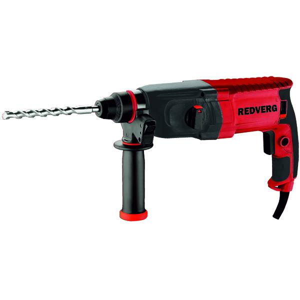 Перфоратор RedVerg RD-RH65098296570Трехрежимный перфоратор предназначен для сверления с ударом/без удара в кирпиче, камне, бетоне диаметром до 23 мм, небольших объемов долбления при штроблении различных углублений в каменных и бетонных конструкциях. Преимущества перфоратора RD-RH650 RedVerg: 3 рабочих режима - сверление/сверление с ударом/долбление, позволяют подобрать оптимальные режимы для выполнения различных работ. Предохранительная муфта отключает вращение бура в перфораторе при его заклинивании. Поворотный механизм реверса обеспечивает полную мощность как при правом, так и при левом вращении. Макс диаметр сверления в бетоне 23 мм. Макс диаметр сверления в металле 13 мм. Макс диаметр сверления в дереве 30 мм.