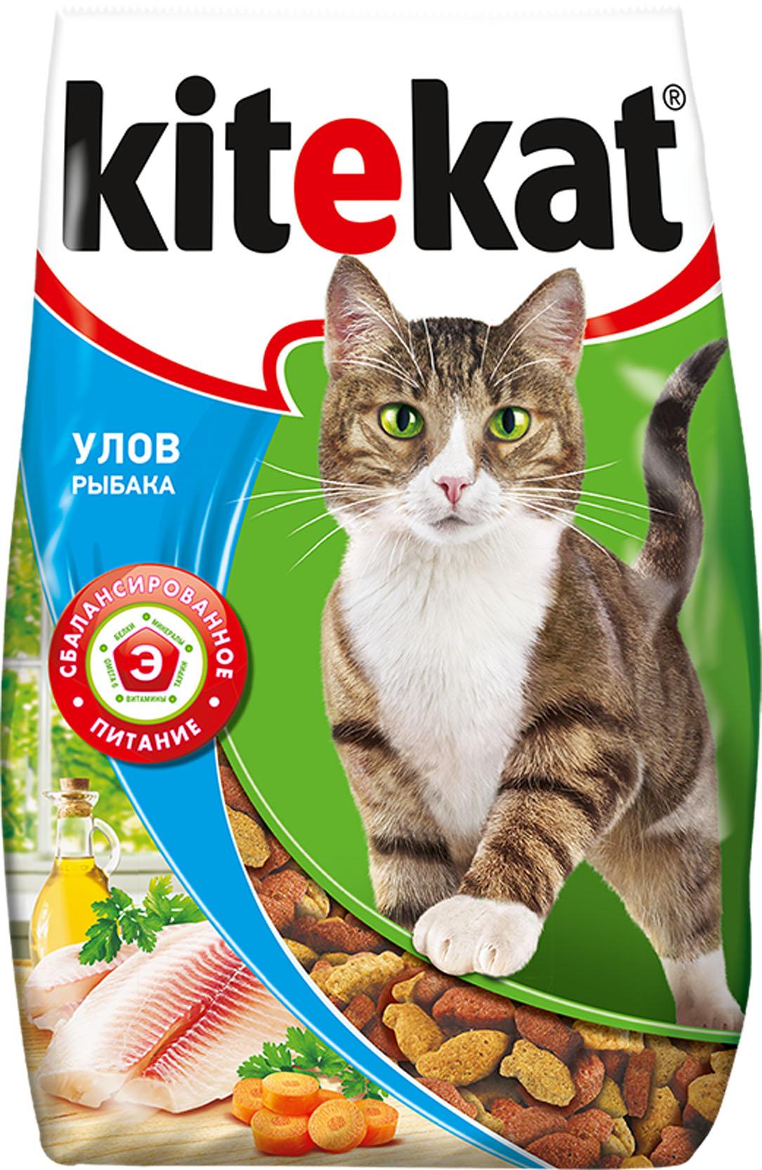 Корм сухой для кошек Kitekat, улов рыбака, 1,9 кг40435Сухой корм для взрослых кошек Kitekat - это специально разработанный рацион с оптимально сбалансированным содержанием белков, витаминов и микроэлементов. Уникальная формула Kitekat включает в себя все необходимые для здоровья компоненты: - белки - для поддержания мышечного тонуса, силы и энергии; - жирные кислоты - для здоровой кожи и блестящей шерсти; - кальций, фосфор, витамин D - для крепости костей и зубов; - таурин - для остроты зрения и стабильной работы сердца; - витамины и минералы, натуральные волокна - для хорошего пищеварения, правильного обмена веществ, укрепления здоровья.Товар сертифицирован.