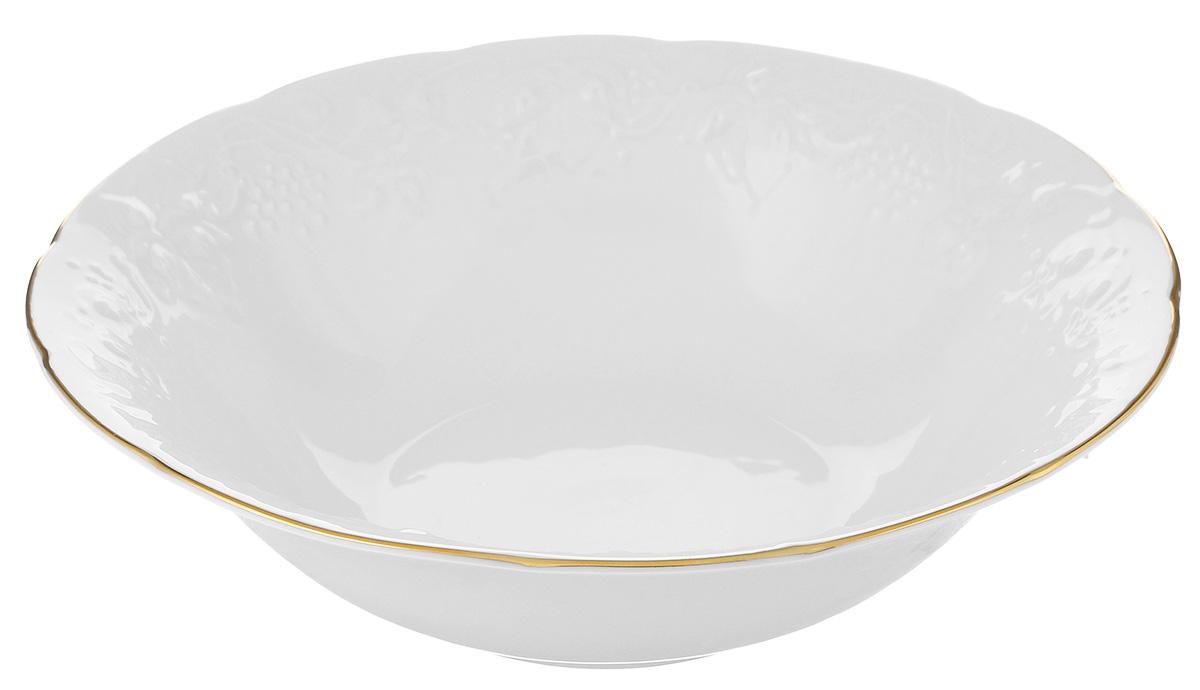 Салатник La Rose Des Sables Vendanges, цвет: белый, серебристый, диаметр 25 см391602Салатник La Rose Des Sables Vendanges, выполненный из высококачественного фарфора, декорирован рельефным изображением цветов.Салатник сочетает в себе изысканный дизайн с максимальной функциональностью. Салатник La Rose Des Sables Vendanges идеально подойдет для сервировки стола и станет отличным подарком к любому празднику.Не рекомендуется использовать в посудомоечной машине и микроволновой печи.Диаметр салатника (по верхнему краю): 25 см.Высота стенки: 7 см.