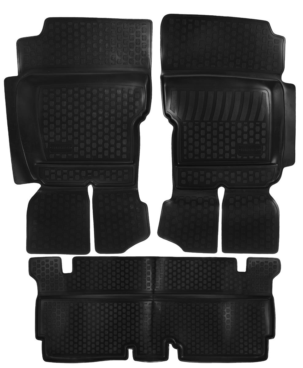 Набор автомобильных ковриков L.Locker УАЗ Hunter, в салон, 3 штTER-160f BEНабор L.Locker УАЗ Hunter, изготовленный из полиуретана, состоит из 3 антискользящих 3D ковриков, которые производятся индивидуально для каждой модели автомобиля. Изделие точно повторяет геометрию пола автомобиля, имеет высокий борт, обладает повышенной износоустойчивостью, лишено резкого запаха и сохраняет свои потребительские свойства в широком диапазоне температур от -50°С до +50°С.Комплектация: 3 шт.Размер ковриков: 103 см х 60 см; 147 см х 65 см; 104 см х 64 см.
