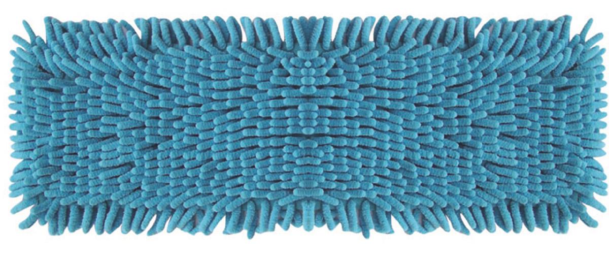 Сменная насадка к швабрам Hausmann, цвет: синий, 13 х 42 см531-105Сменная насадка к швабрам Hausmann, цвет: синий, 13 х 42 см