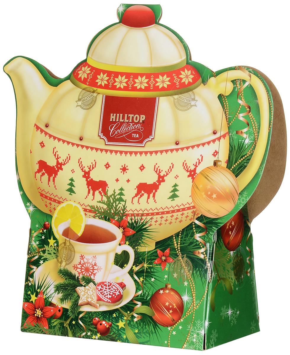Hilltop Цейлонское утро черный листовой чай, 80 г (чайник)70153-00Hilltop Цейлонское утро - классический крупнолистовой черный чай с мягким ароматом и тонизирующими свойствами. Красивая картонная упаковка в форме чайника подарит хорошее настроение и украсит ваш завтрак.