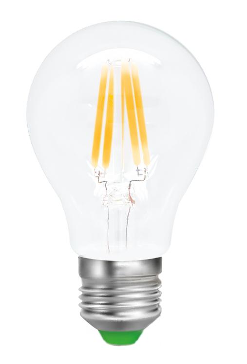 Лампа светодиодная Smartbuy Filament, А60, теплый свет, цоколь Е27, 8 ВтC0038552Светодиодная лампа Smartbuy Filament - новинка на рынке светодиодных ламп! Светодиодная лампа A60 Filament - энергосберегающая лампа для общего и декоративного освещения, подходит для замены стандартных ламп накаливания и галогенных. Колба лампы прозрачная, грушевидной формы. В лампе использован совершенно иной светодиод, он выглядит как нить накаливания, от чего и получил название Filament. Лампа идеально подходит к любому светильнику, в котором используются данные типы ламп. Хорошо будет смотреться даже в открытых светильниках. Особенности: - Угол рассеивания светового пучка 360 градусов. - Хорошая цветопередача. - Отсутствие мерцания обеспечивает меньшую утомляемость глаз. - Высокоэффективный драйвер обеспечивает стабильную работу. - Большой срок службы - 30 000 часов работы. - Широкий рабочий температурный режим от -25° до +45°С. - Не содержит ртуть, экологически безопасна. - Не нагревается даже за целый день, но при этом имеет высокую светоотдачу. Тип колбы: А60. Индекс цветопередачи: RA>80. Частота: 50 Гц. Напряжение: 220-240 В. Коэффициент мощности: 0,06.