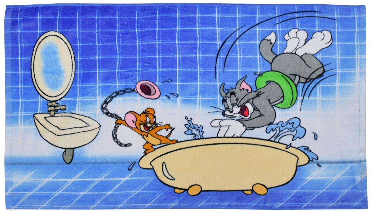 Мульткарнавал Полотенце махровое Том и Джерри в ванной 50 х 90 см