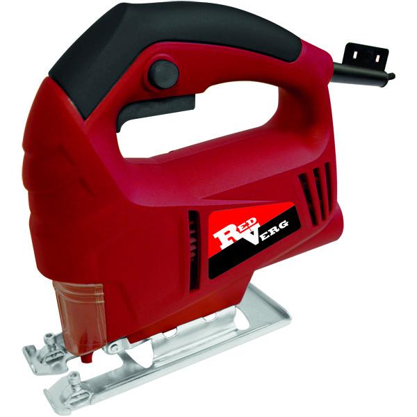Лобзик RedVerg RD-JS500-554321100Самый компактный и лёгкий лобзик предназначен для повышения производительности ручного труда при прямолинейном и фигурном пилении дерева, пластмассы, чёрных и цветных металлов, строительных материалов. Идеально подходит для домашних пользователей. Преимущества: Двойная изоляция электродвигателя - максимальная электробезопасность при работе от сети переменного тока с напряжением 220 В, без применения индивидуальных средств защиты и заземляющих устройств. Высокие обороты двигателя - быстрая распиловка в различных материалах: дерево, пластик, металл. Обрезиненная рукоятка - удобство и безопасность оператора при выполнении различных работ. Низкий уровень вибрации - комфортная работа при выполнении пропилов. Прочная стальная опорная подошва - с возможностью установки углов от 90-45 градусов - высокая точность распила.