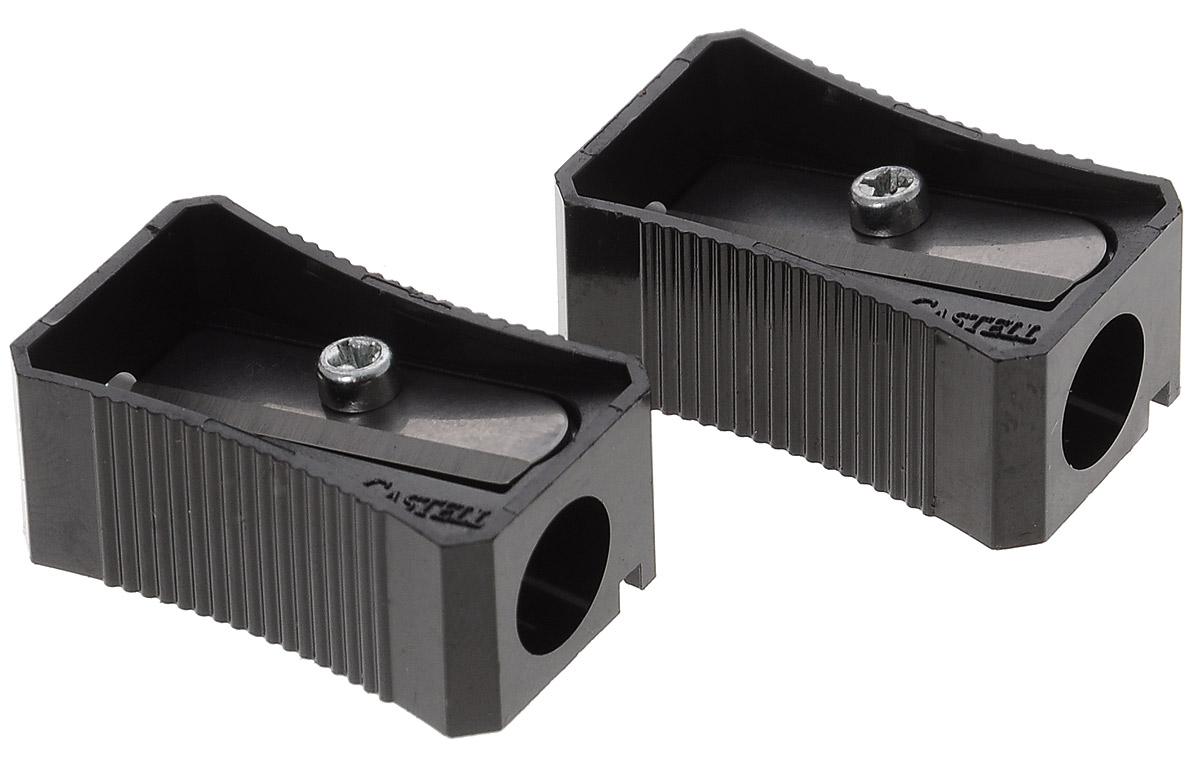 Faber-Castell Точилка цвет черный 2 шт72523WDНабор точилок Faber-Castell предназначен для затачивания классических простых и цветных карандашей. В наборе две точилки из прочного черного пластика с рифленой областью захвата. Острые стальные лезвия обеспечивают высококачественную и точную заточку деревянных карандашей.