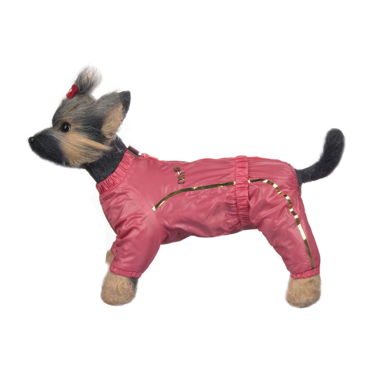 Комбинезон для собак Dogmoda Альпы, для девочки, цвет: коралловый. Размер 1 (S)0120710Комбинезон для собак Dogmoda Альпы отлично подойдет для прогулок поздней осенью или ранней весной.Комбинезон изготовлен из полиэстера, защищающего от ветра и осадков, с подкладкой из флиса, которая сохранит тепло и обеспечит отличный воздухообмен. Комбинезон застегивается на молнию и липучку, благодаря чему его легко надевать и снимать. Ворот, низ рукавов и брючин оснащены внутренними резинками, которые мягко обхватывают шею и лапки, не позволяя просачиваться холодному воздуху. На пояснице имеется внутренняя резинка. Изделие декорировано золотистыми полосками и надписью DM.Благодаря такому комбинезону простуда не грозит вашему питомцу и он не даст любимцу продрогнуть на прогулке.