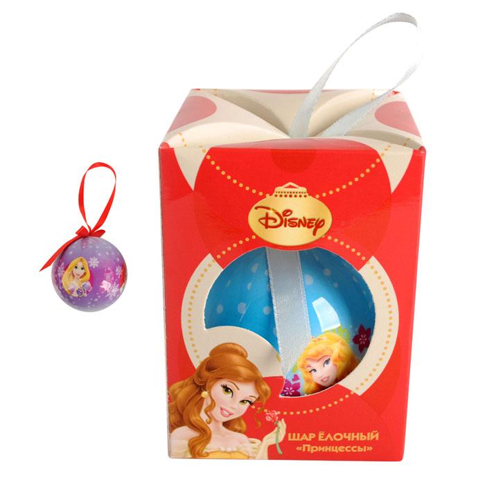 Шар елочный Принцессы, 7,5 см, пенопластC0038550Яркий, красивый, запоминающийся елочный шар с любимыми героями Принцессы подарит улыбку и радость Вашему ребенку.