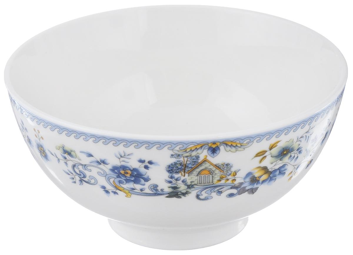 Салатница Nanshan Porcelain Пейзаж, цвет: белый, синий, желтый, диаметр 12,5 см115610Салатница Nanshan Porcelain Пейзаж изготовлена из фарфора. Посуда безопасна для здоровья и окружающей среды. Внешние стенки оформлены изящным узором. Такая салатница прекрасно подходит для подачи холодных и горячих блюд: каш, хлопьев, супов, салатов. Она дополнит коллекцию вашей кухонной посуды и будет служить долгие годы. Можно использовать в посудомоечной машине и СВЧ. Диаметр салатницы (по верхнему краю): 12,5 см. Высота стенки салатницы: 6 см.