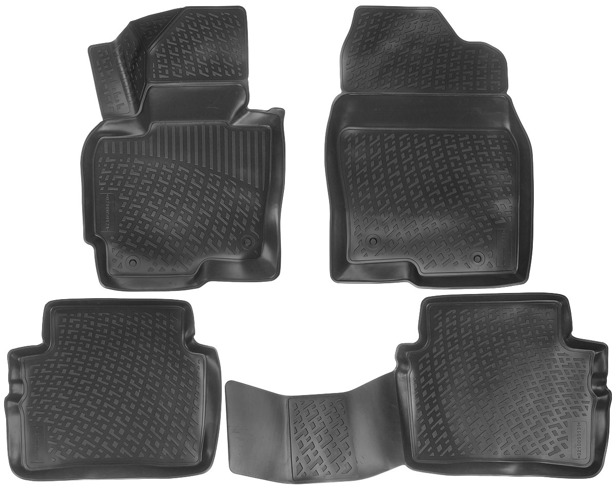 Набор автомобильных ковриков L.Locker Mazda CX-5 2012, в салон, 4 шт0109010201Набор L.Locker Mazda CX-5 2012, изготовленный из полиуретана, состоит из 4 антискользящих 3D ковриков, которые производятся индивидуально для каждой модели автомобиля. Изделие точно повторяет геометрию пола автомобиля, имеет высокий борт, обладает повышенной износоустойчивостью, лишено резкого запаха и сохраняет свои потребительские свойства в широком диапазоне температур от -50°С до +50°С.Комплектация: 4 шт.Размер ковриков: 73 см х 54,5 см; 96 см х 47 см; 57,5 см х 47 см; 53 см х 74 см.