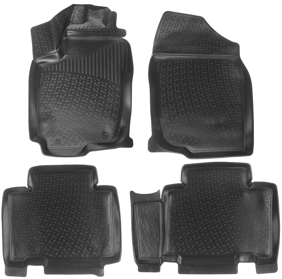 Набор автомобильных ковриков L.Locker Toyota RAV4 IV 2012, в салон, 4 штВетерок 2ГФНабор L.Locker Toyota RAV4 IV 2012, изготовленный из полиуретана, состоит из 4 антискользящих 3D ковриков, которые производятся индивидуально для каждой модели автомобиля. Изделие точно повторяет геометрию пола автомобиля, имеет высокий борт, обладает повышенной износоустойчивостью, лишено резкого запаха и сохраняет свои потребительские свойства в широком диапазоне температур от -50°С до +50°С. Набор подходит для автомобилей с 2012 года выпуска. Комплектация: 4 шт.Размер ковриков: 81 см х 55 см; 80 см х 60 см; 62 см х 59 см; 78 см х 55 см.