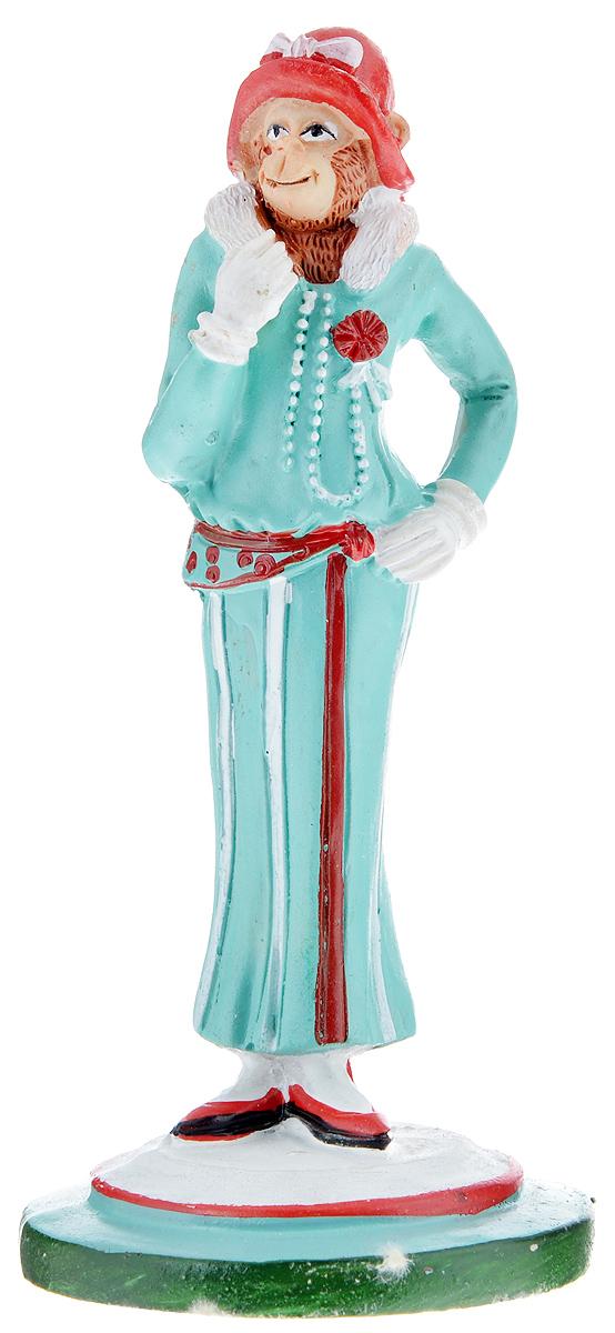 Фигурка декоративная Обезьяна-Шанель, высота 12,3 смRSP-202SДекоративная фигурка Обезьяна-Шанель станет оригинальным подарком для всех любителей стильных вещей. Сувенир выполнен из высококачественной полирезины в форме обезьяны в шляпе. Изысканный сувенир станет прекрасным дополнением к интерьеру. Вы можете поставить фигурку в любом месте, где она будет удачно смотреться и радовать глаз.