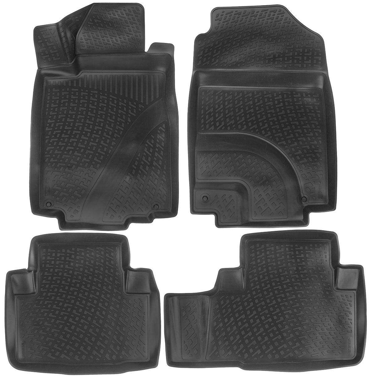Набор автомобильных ковриков L.Locker Honda CR-V IV 2012, в салон, 4 шт21395599Набор L.Locker Honda CR-V IV 2012, изготовленный из полиуретана, состоит из 4 антискользящих 3D ковриков, которые производятся индивидуально для каждой модели автомобиля. Изделие точно повторяет геометрию пола автомобиля, имеет высокий борт, обладает повышенной износоустойчивостью, лишено резкого запаха и сохраняет свои потребительские свойства в широком диапазоне температур от -50°С до +50°С. Комплектация: 4 шт.Размер ковриков: 87 см х 56 см; 59 см х 54 см; 76 см х 53 см; 84 см х 57 см.