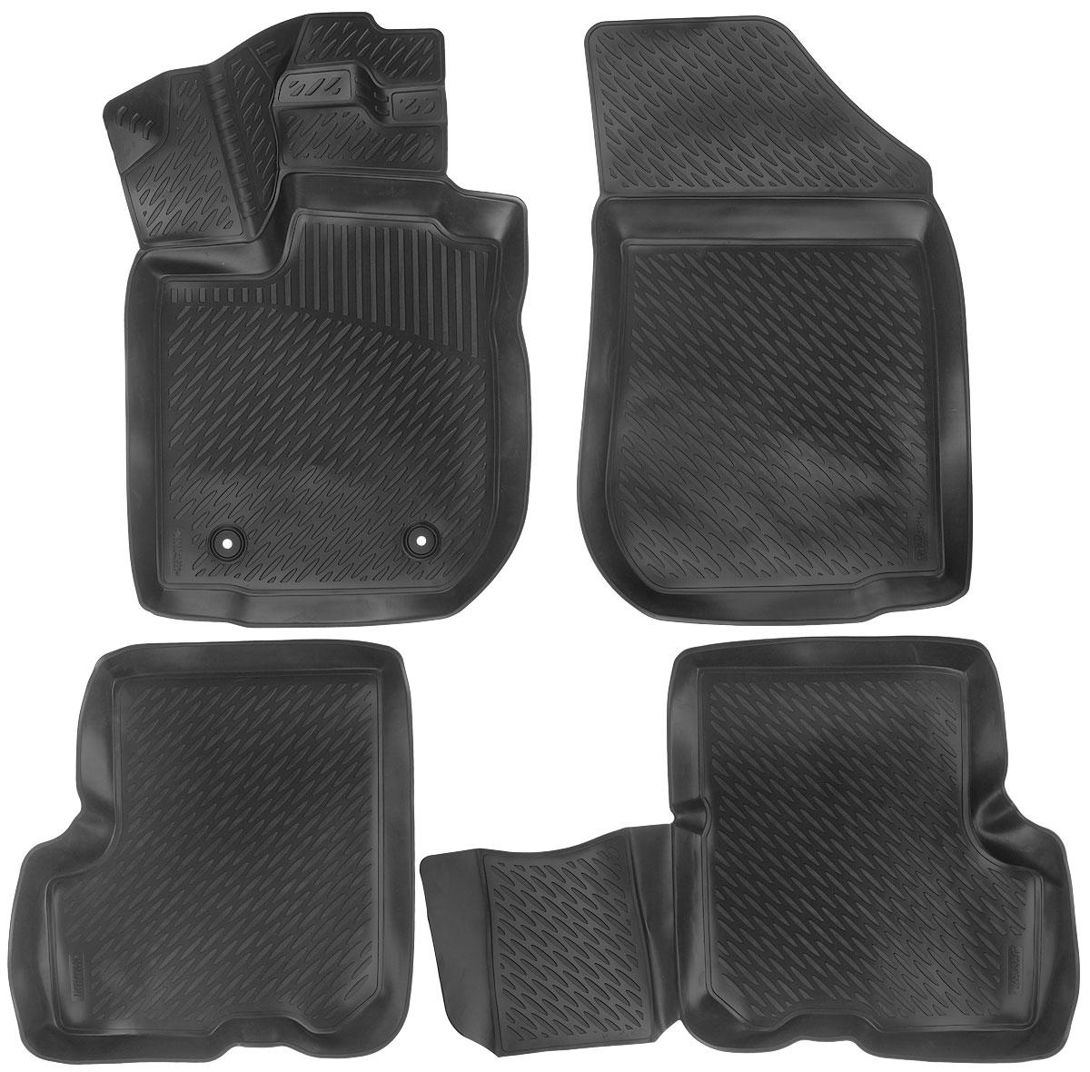 Набор автомобильных ковриков L.Locker Renault Logan 2013, в салон, 4 штAL-350Набор L.Locker Renault Logan 2013, изготовленный из полиуретана, состоит из 4 антискользящих 3D ковриков, которые производятся индивидуально для каждой модели автомобиля. Изделие точно повторяет геометрию пола автомобиля, имеет высокий борт, обладает повышенной износоустойчивостью, лишено резкого запаха и сохраняет свои потребительские свойства в широком диапазоне температур от -50°С до +50°С.Комплектация: 4 шт.Размер ковриков: 85 см х 54 см; 56,5 см х 60 см; 91 см х 59 см; 56 см х 84,5 см.