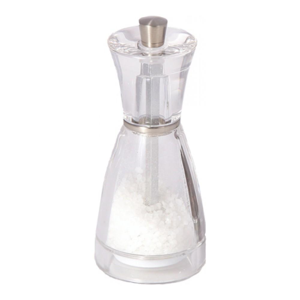 Мельница для соли Cole & Mason PinaH357020Мельница для соли Cole & Mason Pina изготовлена из прозрачного пищевого пластика, что позволяет видеть количество содержимого в емкости. Механизм помола выполнен из керамики. Оригинальная мельница модного дизайна будет отлично смотреться на вашей кухне. Мельница уже содержит соль.Размер мельницы: 5,5 см х 5,5 см х 12,5 см.