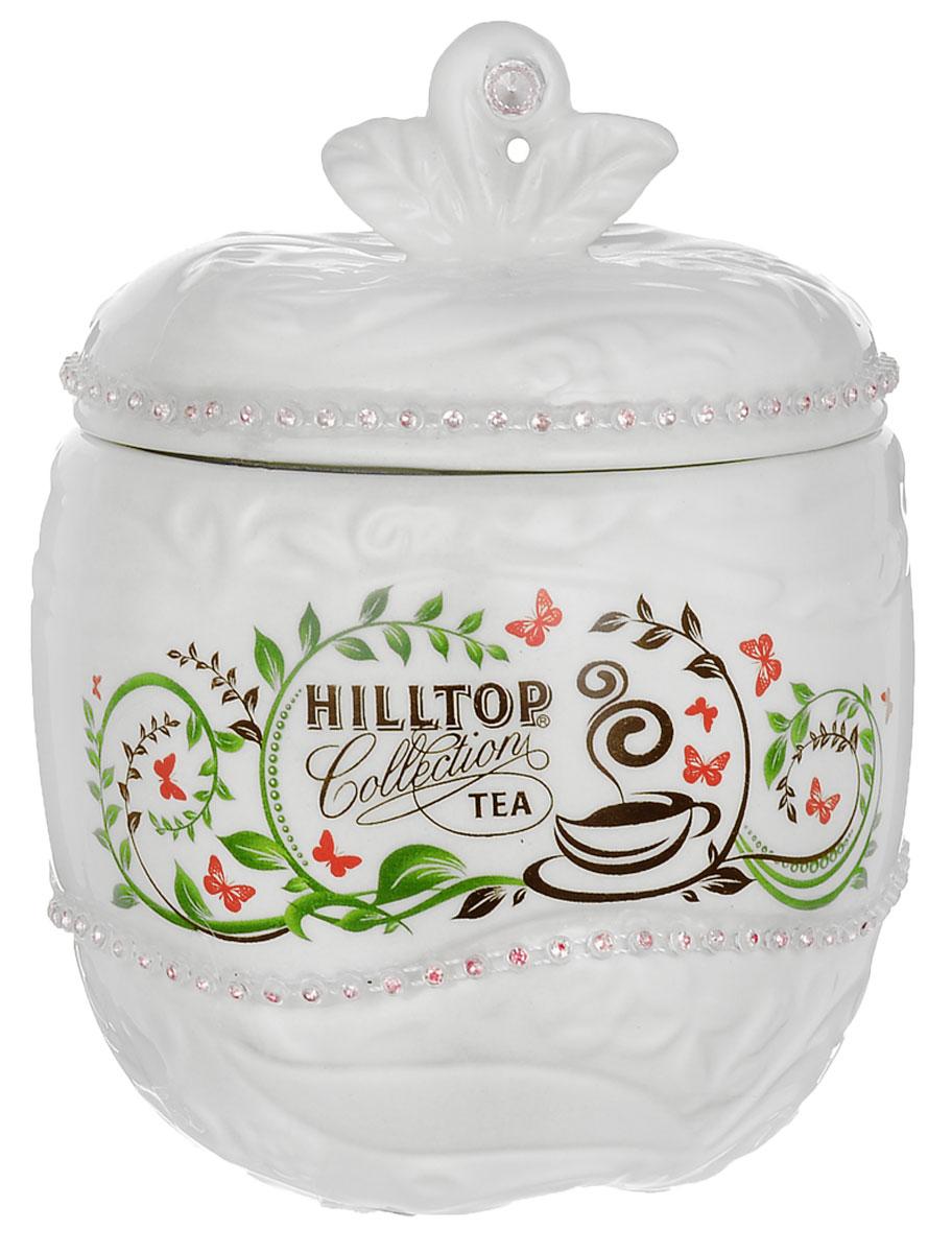 Hilltop Цейлонское утро черный листовой чай, 80 г (керамическая чайница Яблоко, новогодняя)80091-00Hilltop Цейлонское утро - классический крупнолистовой черный чай с мягким ароматом и тонизирующими свойствами. Помимо этого великолепного чая, в комплекте вы найдете керамическую чайницу Яблоко, упакованную в яркую новогоднюю коробку. Вы сможете преподнести ее как подарок к праздникам для друзей и близких, или же порадовать себя изысканным чаем!