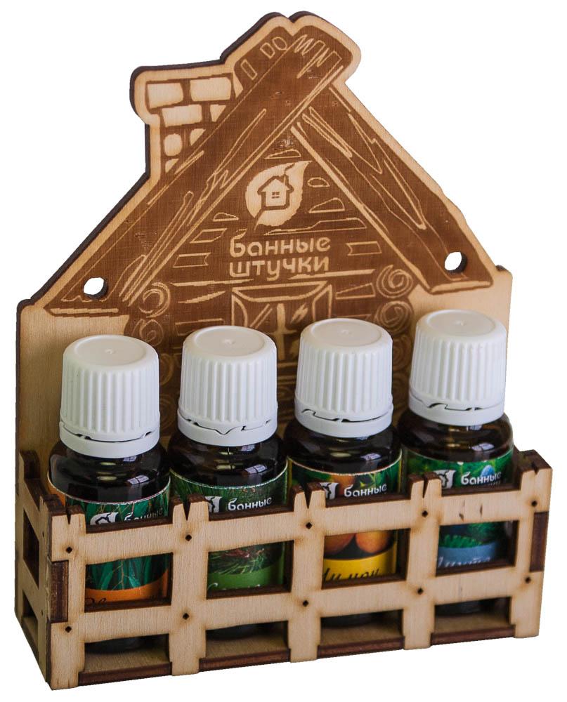 Набор эфирных масел Банька для бани и сауны, 4 х 15 мл787502Набор эфирных масел Банька содержит в себе натуральные эфирные масла лимона, эвкалипта, пихты и сосны. Масла предназначены для использования в бане и сауне, для обертывания и массажа.Эвкалипт способствует укреплению иммунитета, помогает в борьбе с кашлем и при других заболеваниях верхних дыхательных путей.Масло сосны обладает антисептическим, жаропонижающим, противопростудным, противовоспалительным, противокашлевым, обезболивающим, мочегонным, потогонным, общестимулирующим, дезодорирующим, тонизирующим, противоотёчным действием; как дополнительное средство его назначают при экземах, травмах, заболеваниях дыхательных и мочевыводящих путей, ринитах, синуситах, ОРВИ, ангине и астме.Лимон помогает при депрессии и бессоннице, снимает нервное напряжение, улучшает общее состояние организма, дарит заряд бодрости и энергии.Пихта обладает согревающим действием, способствует укреплению иммунитета, очищает и омолаживает организм. Эфирные масла упакованы в деревянную коробку, сделанную в виде домика. Баня - это не только очищение тела, но и отдых для души, укрепление духа.