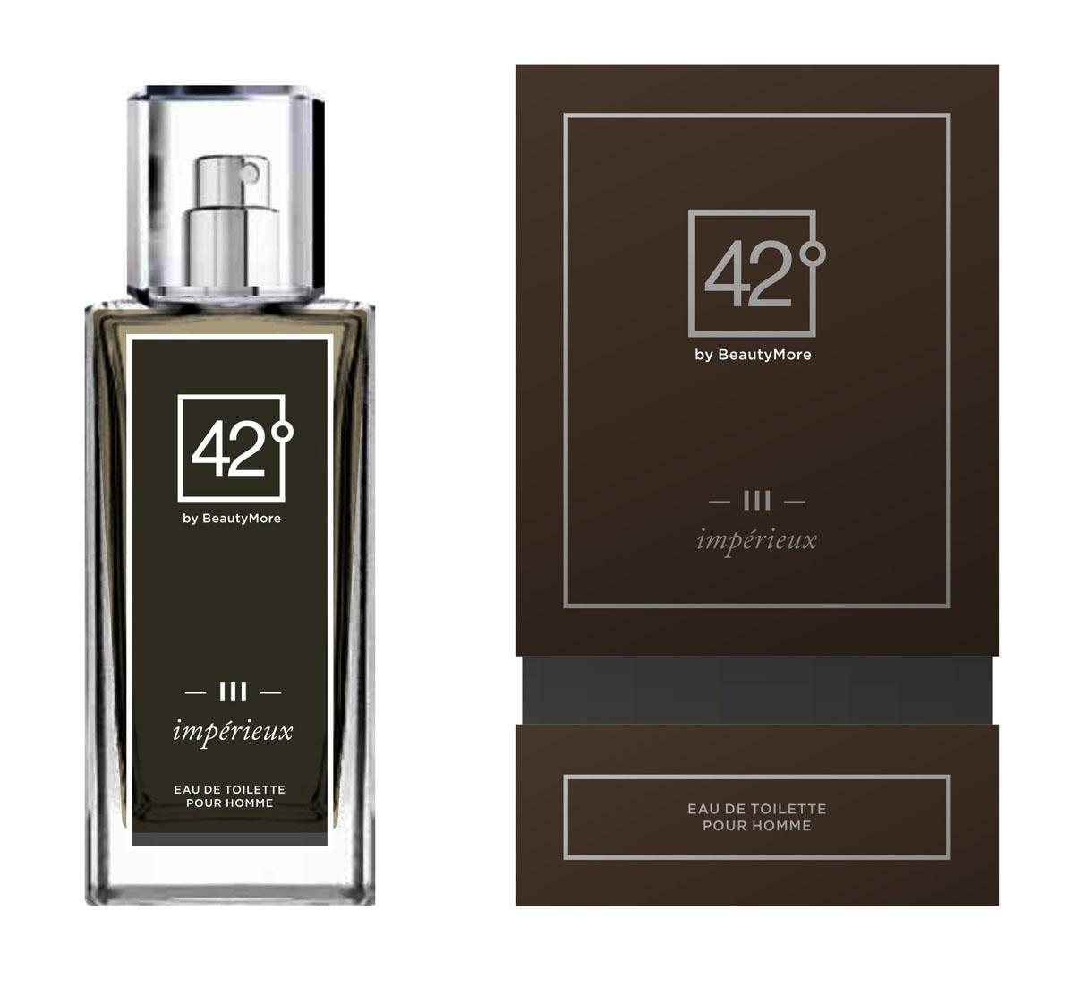 Fragrance 42 Туалетная вода для мужчин III Imperieux 100 млWS 7064Импери - аромат созданный для настоящих,решительных, мужчин,уверенных в себе и смело покоряющих любые цели. Этот аромат станет завершающей ноткой в вашем неотразимом образе. Верхняя нота- мята,мандарин,нота сердца - роза,корица, кардамон, базовые ноты - пачули,янтарь,натуральная кожа.