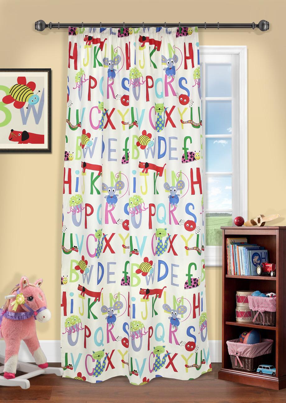 Штора на шторной ленте, Алфавит, 140х280см, UN1115986405383Штора на шторной ленте для детской. Дизайн буквы140*287