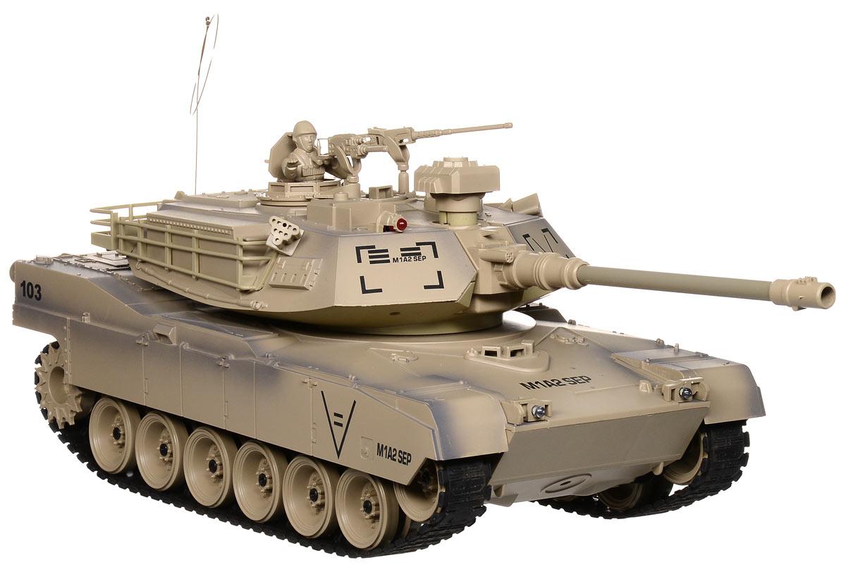 Пламенный мотор Танк на радиоуправлении Abrams М1А2 масштаб 1:18