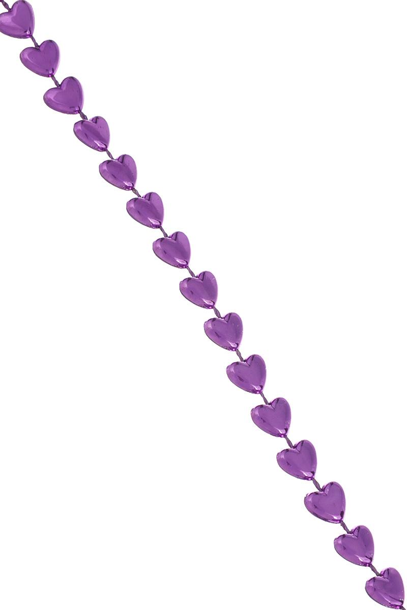 Новогодняя гирлянда Lunten Ranta Сердечки, цвет: фиолетовый, длина 2 мSL250 503 09Новогодняя гирлянда Lunten Ranta Сердечки отлично подойдет для декорации вашего дома и новогодней ели. Изделие, выполненное из пластика, представляет собой гирлянду, на текстильной нити, на которой нанизаны бусины в виде сердец. Новогодние украшения несут в себе волшебство и красоту праздника. Они помогут вам украсить дом к предстоящим праздникам и оживить интерьер по вашему вкусу. Создайте в доме атмосферу тепла, веселья и радости, украшая его всей семьей. Размер бусин: 0,8 см х 0,8 см х 0,3 см.