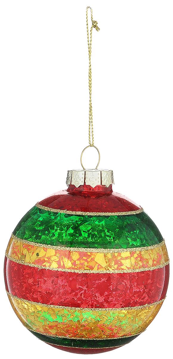 Новогоднее подвесное украшение Its a Happy Day Шар. Блеск, цвет: красный, желтый, зеленый, диаметр 8 см65597Новогоднее подвесное украшение Its a Happy Day Шар. Блеск выполнено из высококачественного стекла в форме шара и оформлено блестками. С помощью специальной петельки украшение можно повесить в любом понравившемся вам месте. Но, конечно, удачнее всего оно будет смотреться на праздничной елке.Елочная игрушка - символ Нового года. Она несет в себе волшебство и красоту праздника. Создайте в своем доме атмосферу веселья и радости, украшая новогоднюю елку нарядными игрушками, которые будут из года в год накапливать теплоту воспоминаний.