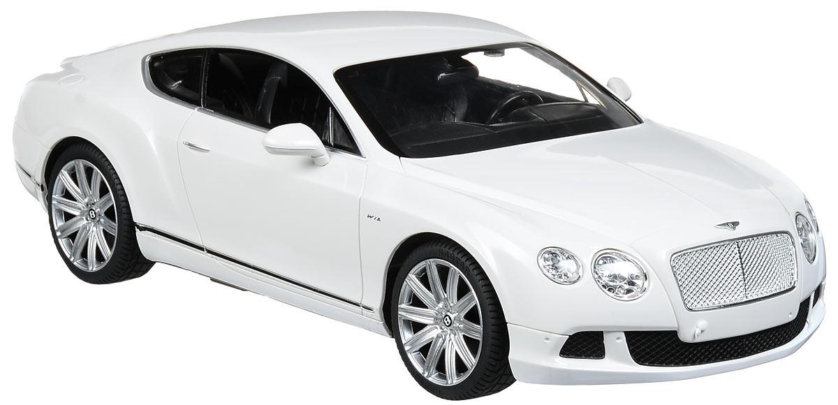 Rastar Радиоуправляемая модель Bentley Continental GT Speed цвет белый масштаб 1:14