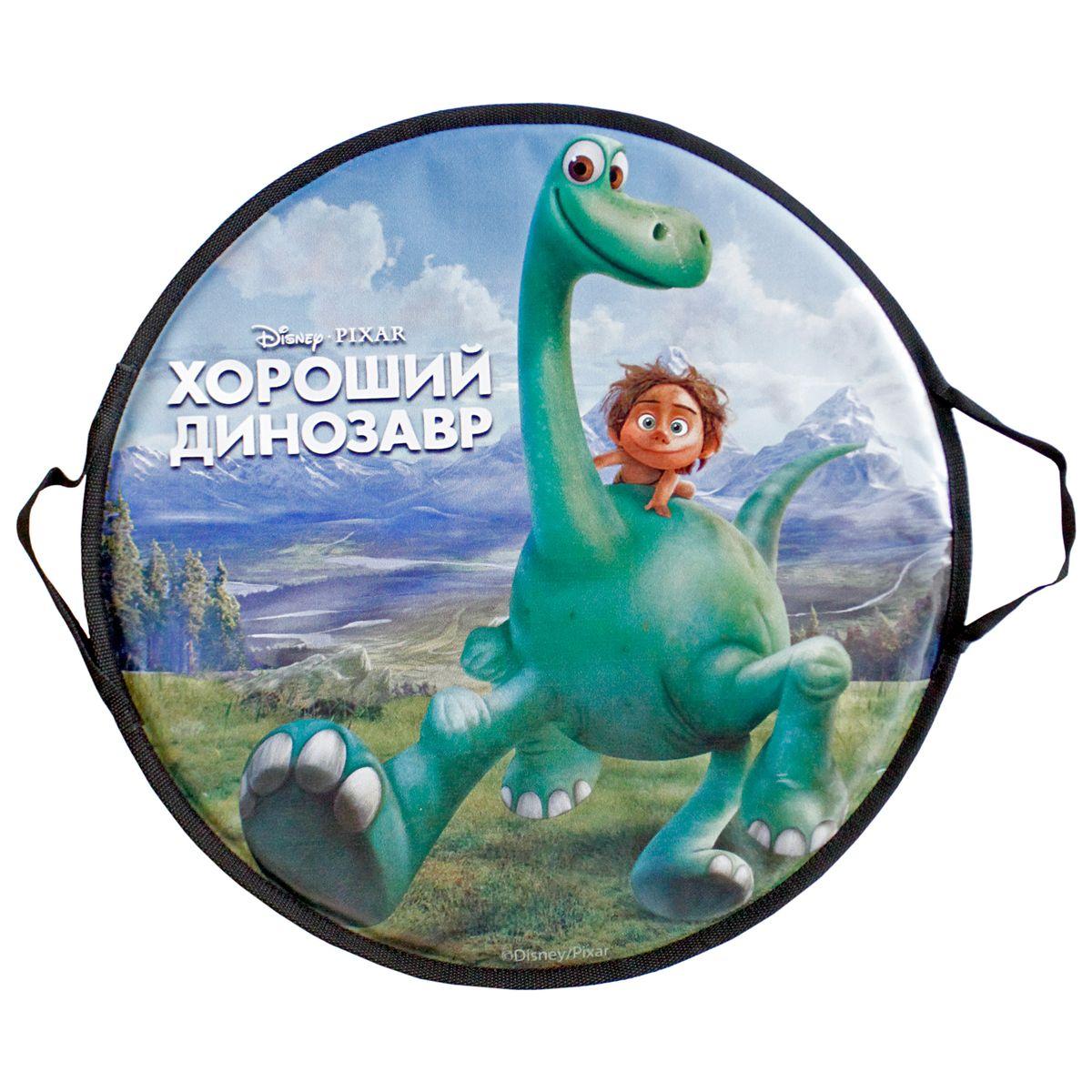 Ледянка круглая 52см, Disney Добропорядочный динозаврТ56338Ледянка Disney Добропорядочный динозавр станет прекрасным подарком. Изделие предназначено катания с горок и идеально подойдет как для мальчиков, так и для девочек. Ледянка развивает на спуске хорошую скорость. Плотные ручки, расположенные по краям изделия помогут не упасть.