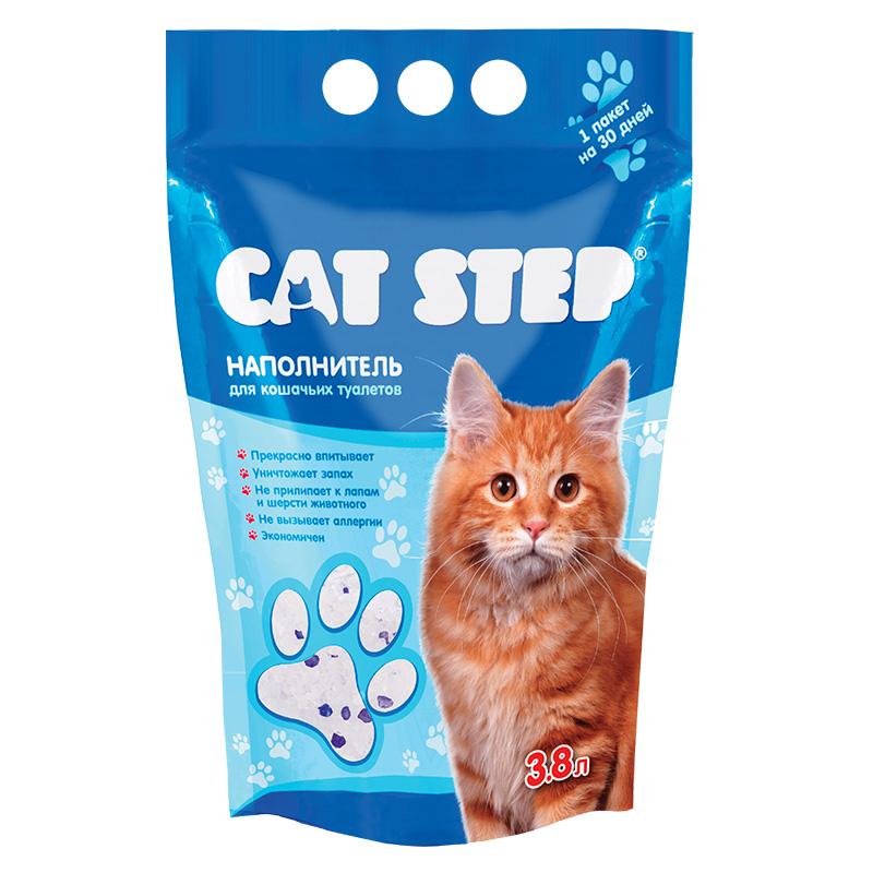 Наполнитель для кошачьего туалета Cat Step, силикагелевый, 3,8 лМт-126Гигиенический наполнитель Cat Step обеспечит вашей кошке всегда чистый туалет и устранит неприятный запах.Наполнитель представляет собой коллоидную форму кварца, разработанную специально для максимального впитывания. Миллионы микроскопических пор в каждом кристалле обеспечивают мгновенное поглощение жидкости и запаха, запирая их внутри. Наполнитель не ароматизирован, не выделяет пыли, не прилипает к лапам и шерсти животного, а также прост в использовании. Состав: силикагель.Вес: 1,81 кг.Товар сертифицирован.