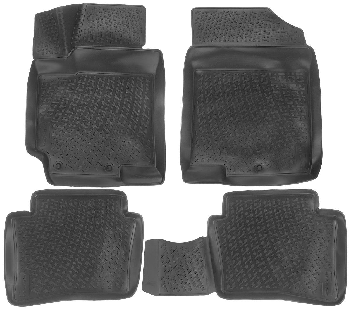 Набор автомобильных ковриков L.Locker Hyundai Solaris 2010, в салон, 4 штВетерок 2ГФНабор L.Locker Hyundai Solaris 2010, изготовленный из полиуретана, состоит из 4 антискользящих 3D ковриков, которые производятся индивидуально для каждой модели автомобиля. Изделие точно повторяет геометрию пола автомобиля, имеет высокий борт, обладает повышенной износоустойчивостью, лишено резкого запаха и сохраняет свои потребительские свойства в широком диапазоне температур от -50°С до +50°С.Комплектация: 4 шт.Размер ковриков: 75 см х 57 см; 56 см х 45 см;56 см х 45 см; 75 см х 57 см.