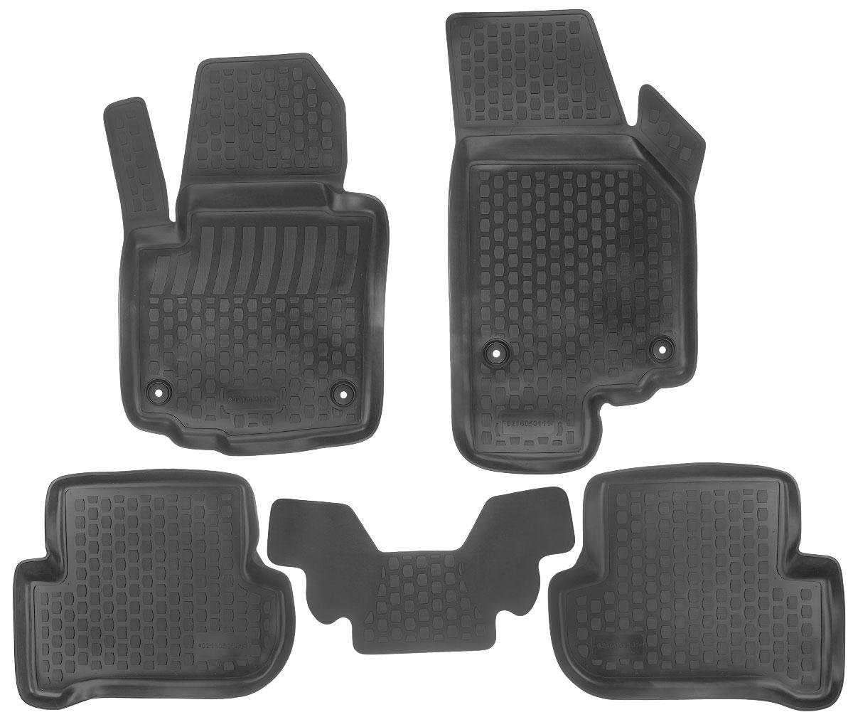 Набор автомобильных ковриков L.Locker Skoda Yeti 2009, в салон, 5 штWT-CD37Набор L.Locker Skoda Yeti 2009, изготовленный из полиуретана, состоит из 5ковриков,которые производятся индивидуально для каждой моделиавтомобиля. Изделие точно повторяет геометрию пола автомобиля, имеет высокийборт, обладает повышенной износоустойчивостью, лишено резкого запаха и сохраняет своипотребительские свойства в широком диапазоне температур от -50°С до +80°С.Комплектация: 5 шт.Размер ковриков: 59 см х 30 см; 76 см х 51 см; 56 см х 45 см; 56 см х 45 см; 88 см х 48 см.