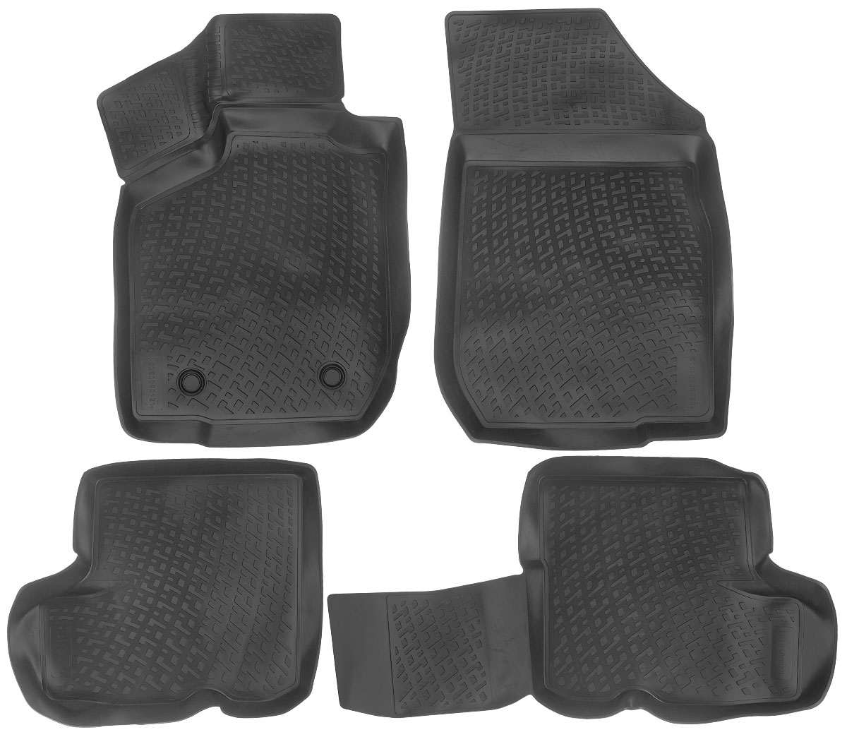 Набор автомобильных ковриков L.Locker Lada Largus 2012, в салон, 4 штFS-80423Набор L.Locker Lada Largus 2012, изготовленный из полиуретана, состоит из 4 ковриков,которые производятся индивидуально для каждой моделиавтомобиля. Изделие точно повторяет геометрию пола автомобиля, имеет высокийборт, обладает повышенной износоустойчивостью, лишено резкого запаха и сохраняет своипотребительские свойства в широком диапазоне температур от -50°С до +80°С.Комплектация: 4 шт.Размер ковриков: 81 см х 56 см; 81 см х 56 см; 91 см х 50 см; 50 см х 57 см.