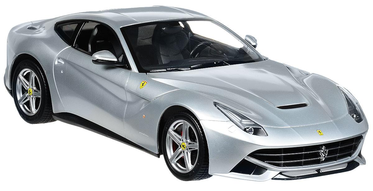 """Радиоуправляемая модель Rastar """"Ferrari F12 Berlinetta"""" станет отличным подарком любому мальчику! Все дети хотят иметь в наборе своих игрушек ослепительные, невероятные и крутые автомобили на радиоуправлении. Тем более, если это автомобиль известной марки с проработкой всех деталей, удивляющий приятным качеством и видом. Одной из таких моделей является автомобиль на радиоуправлении Rastar """"Ferrari F12 Berlinetta"""". Это точная копия настоящего авто в масштабе 1:14. Авто обладает неповторимым провокационным стилем и спортивным характером. Потрясающая маневренность, динамика и покладистость - отличительные качества этой модели. Возможные движения: вперед, назад, вправо, влево, остановка. Имеются световые эффекты. Пульт управления работает на частоте 40 MHz. Для работы игрушки необходимы 5 батареек типа АА (не входят в комплект). Для работы пульта управления необходима 1 батарейка 9V (6F22) (не входит в комплект)."""