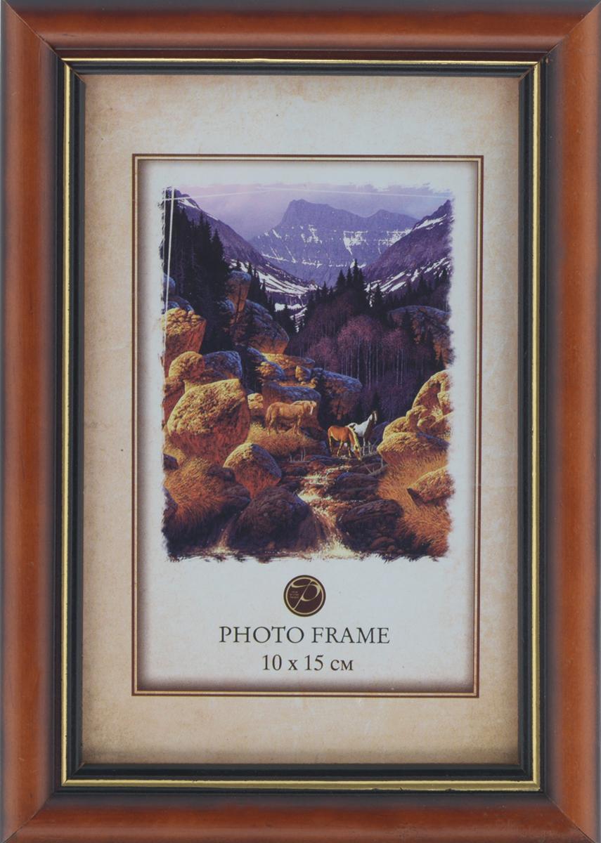 Фоторамка Pioneer Carol, цвет: коричневый, 10 x 15 см7686 156VФоторамка Carol выполнена в классическом стиле из натурального дерева и стекла, защищающего фотографию. Оборотная сторона рамки оснащена специальной ножкой, благодаря которой ее можно поставить на стол или любое другое место в доме или офисе. Также на изделие имеются два специальных отверстия для подвешивания. Такая фоторамка поможет вам оригинально и стильно дополнить интерьер помещения, а также позволит сохранить память о дорогих вам людях и интересных событиях вашей жизни.