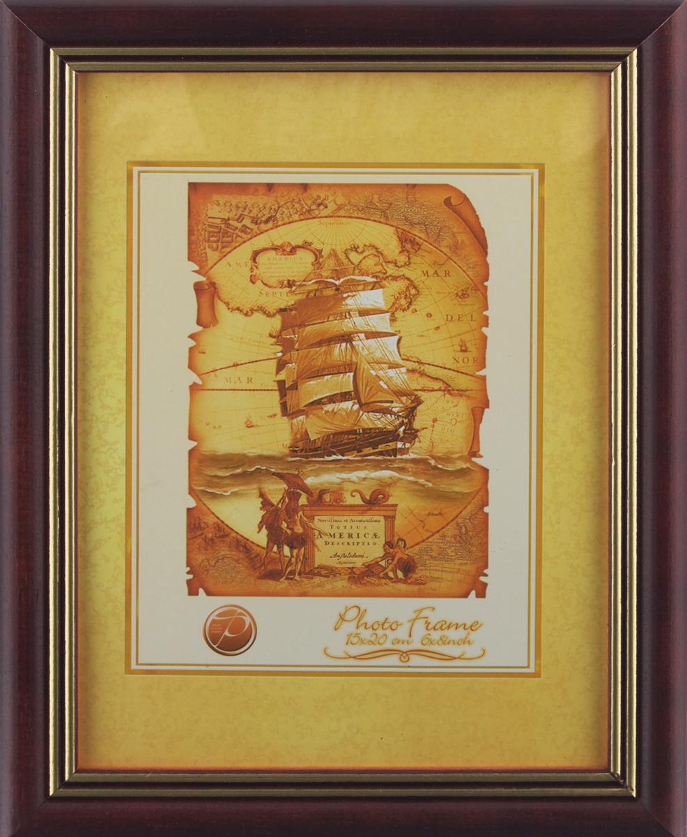 Фоторамка Pioneer Grace, цвет: бордовый, 15 х 20 см110601024Фоторамка Pioneer Grace выполнена из дерева с золотым тиснением по краю и стекла, защищающего фотографию. Оборотная сторона рамки оснащена специальной ножкой, благодаря которой ее можно поставить на стол или любое другое место в доме или офисе. Также изделие оснащено специальными отверстиями для подвешивания на стену.Такая фоторамка поможет вам оригинально и стильно дополнить интерьер помещения, а также позволит сохранить память о дорогих вам людях и интересных событиях вашей жизни.