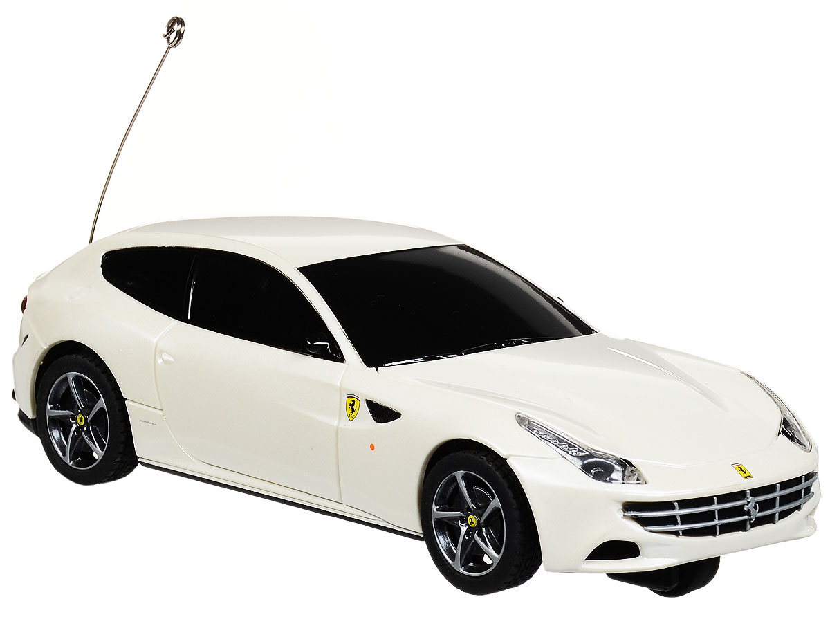 """Радиоуправляемая модель Rastar """"Ferrari FF"""" станет отличным подарком любому мальчику! Это точная копия настоящего авто в масштабе 1:32. Возможные движения: вперед, назад влево. Пульт управления работает на частоте 27 MHz. Для работы игрушки необходимы 2 батарейки типа АА (не входят в комплект). Для работы пульта управления необходимы 2 батарейки типа АА (не входят в комплект)."""