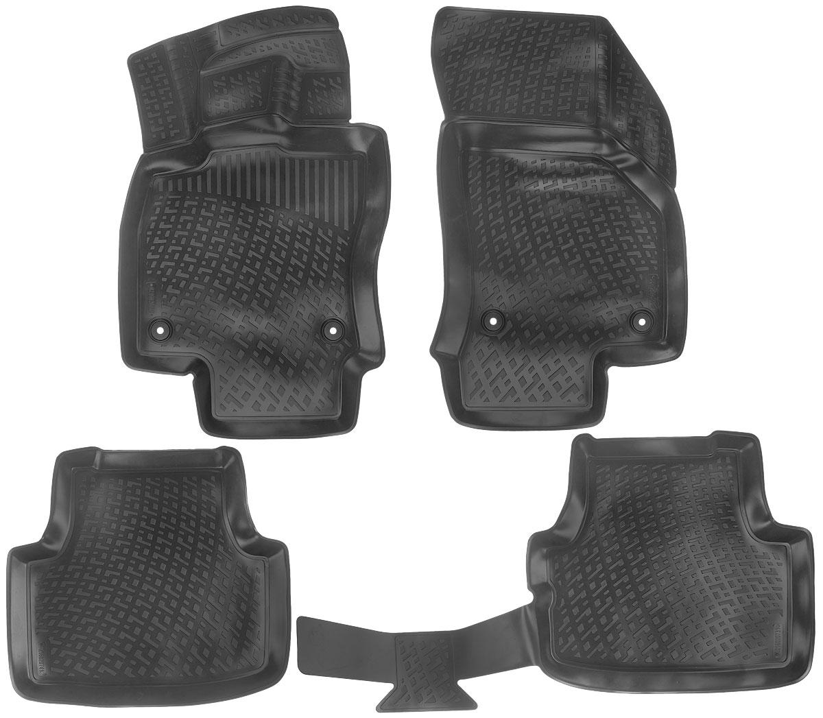Набор автомобильных ковриков L.Locker Skoda Octavia (3) 2013, в салон, 4 шт0210020101Набор L.Locker Skoda Octavia (3) 2013, изготовленный из полиуретана, состоит из 4 антискользящих 3D ковриков, которые производятся индивидуально для каждой модели автомобиля. Изделие точно повторяет геометрию пола автомобиля, имеет высокий борт, обладает повышенной износоустойчивостью, лишено резкого запаха и сохраняет свои потребительские свойства в широком диапазоне температур от -50°С до +50°С.Комплектация: 4 шт.Размер ковриков: 85 см х 50 см; 87 см х 55 см; 57 см х 53 см; 106 см х 52 см.