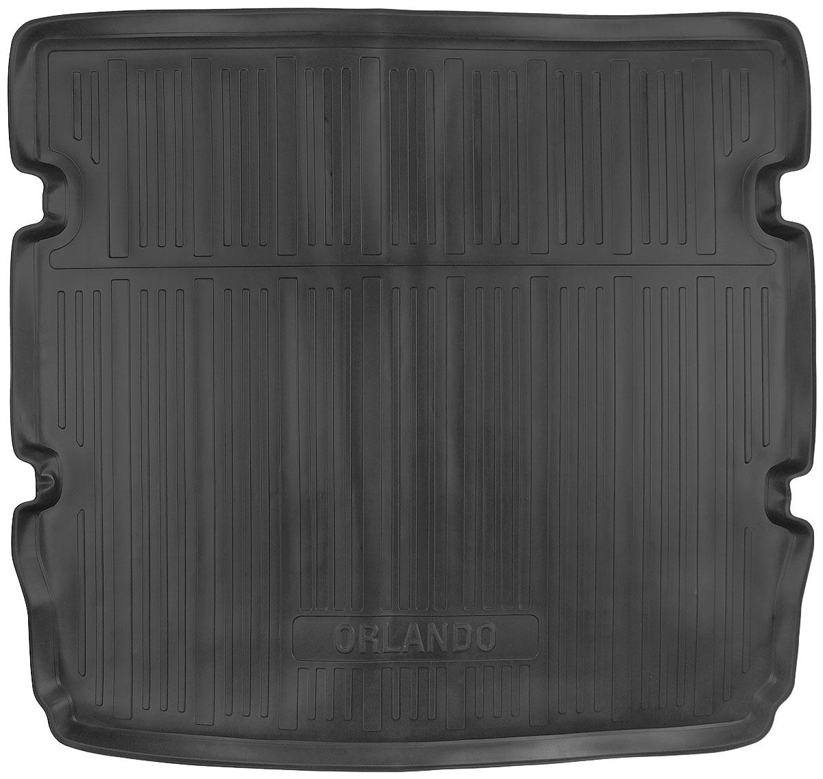 Коврик в багажник L.Locker, для Chevrolet Orlando (10-) EU ver. 5 местВетерок 2ГФКоврик L.Locker производится индивидуально для каждой модели автомобиля из современного и экологически чистого материала. Изделие точно повторяет геометрию пола автомобиля, имеет высокий борт, обладает повышенной износоустойчивостью, антискользящими свойствами, лишен резкого запаха и сохраняет свои потребительские свойства в широком диапазоне температур (от -50°С до +80°С).