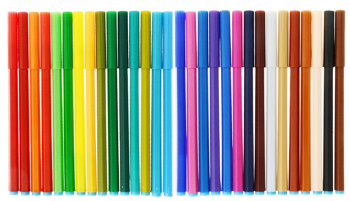 Набор суперсмываемых фломастеров Centropen, 30 цветовFS-36052От производителяНабор фломастеров, наполненных суперсмываемыми современными чернилами нового поколения, которые пишут особенно долго, легко смываются с рук даже холодной водой и очень легко отстирываются. Диаметр наконечника 1,8 мм. Корпус фломастеров изготовлен из полипропилена, продлевающего срок службы. В соответствии с требованиями к безопасности, фломастеры снабжены вентилирующимися колпачками. В наборе 30 ярких цветов. Характеристики: Длина фломастера: 15 см. Размер упаковки:35 см х 19 см х 1 см.