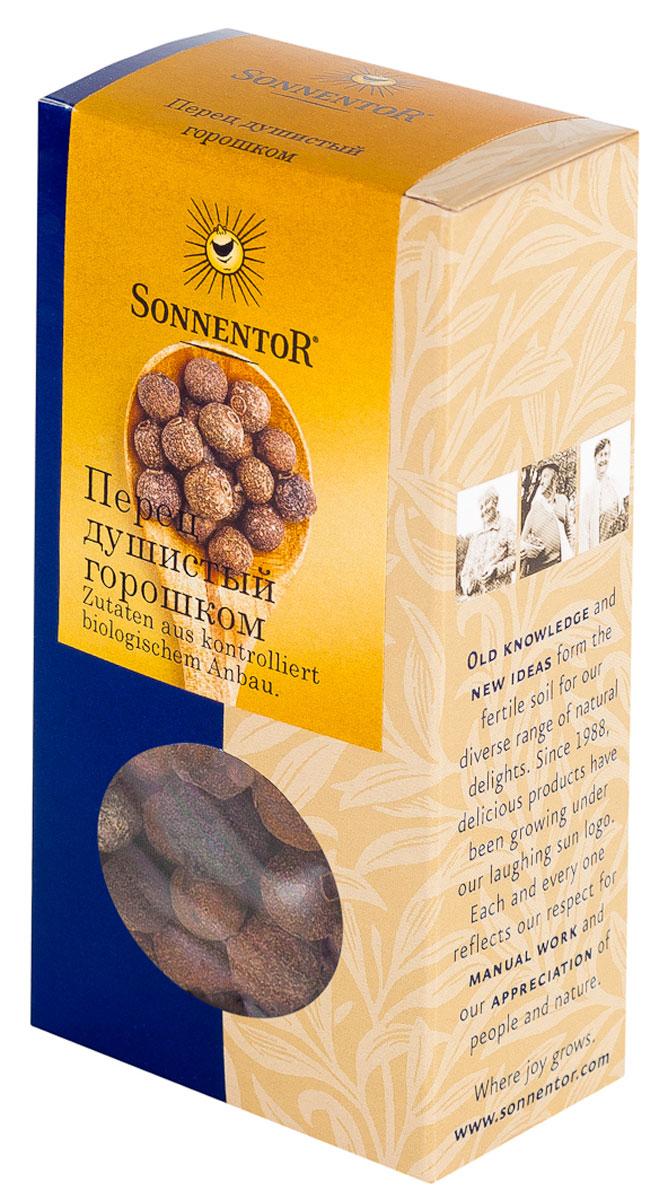 Sonnentor Перец душистый горошком, 35 гNT395Sonnentor Перец душистый горошком - ароматная приправа из самого сердца Ямайки. Перец душистый горошком превосходно сочетается с мясными и рыбными блюдами, его можно добавлять в жаркое и блюда из дичи. Для придания пикантной остроты душистый перец используют в Рождественском печенье, пряниках, пирогах, горячем шоколаде. Авантюристы могут приготовить с ним фруктовый салат. Традиционно перец душистый горошком используется при консервировании овощей и мясных паштетов.