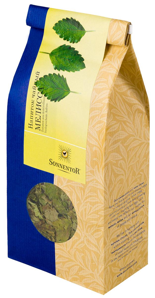 Sonnentor Мелисса листовой травяной чай, 50 г0120710Те, у кого растет в саду мелисса, не могут оставлять равнодушным его свежий, цитрусовый аромат. Мелисса лимонная является чрезвычайно универсальным растением. Летний чай обладает освежающим вкусом, его можно пить как теплым, так и холодным, с сахаром или смешать с фруктовыми соками. Из этого вкусного чая можно также приготовить замечательный сорбет. Зимними вечерами этот чай позволит согреться и напомнит о теплых летних днях.
