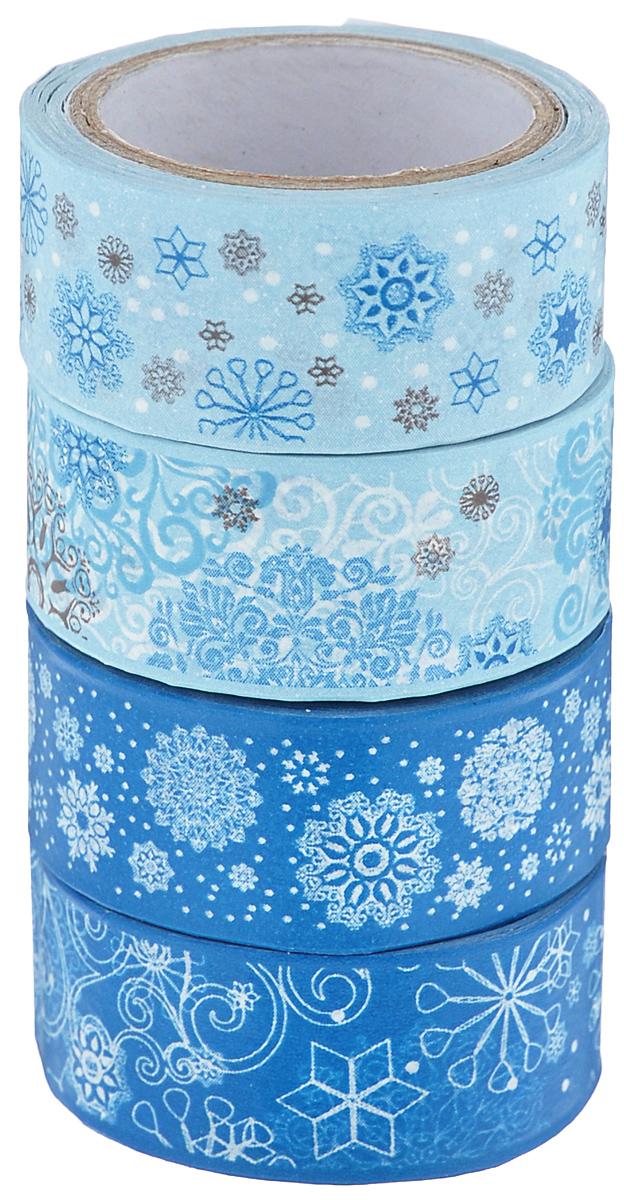 Набор бумажных лент Heyda, на клейкой основе, цвет: синий, голубой, белый, 1,5 см х 500 см, 4 штSS 4041Набор Heyda состоит из 4 бумажных лент разных дизайнов. Такой набор идеально подойдет для создания и украшения красивых открыток, скрап-страничек и множества других проектов. Задняя сторона - клейкая. Скрапбукинг - это хобби, которое способно приносить массу приятных эмоций не только человеку, который этим занимается, но и его близким, друзьям, родным. Это невероятно увлекательное занятие, которое поможет вам сохранить наиболее памятные и яркие моменты вашей жизни, а также интересно оформить интерьер дома.Размер ленты: 1,5 см х 500 см.