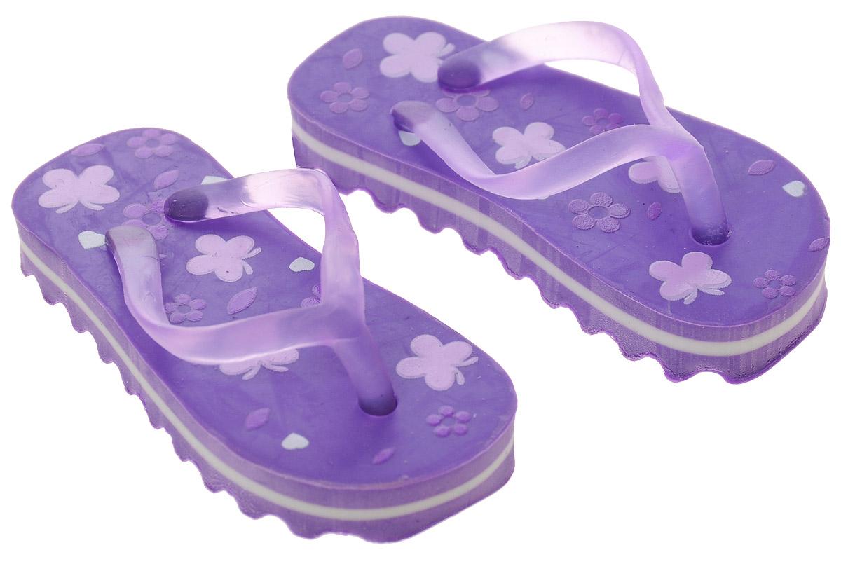 Brunnen Ластик Пляжные тапочки цвет фиолетовый 2 шт1400_синийЛастик Brunnen Пляжные тапочки выполнен в оригинальном дизайне. Представляет собой резинку для стирания, выполненную в виде миниатюрных копий пляжных тапочек розового цвета.Ластик обеспечивают высокое качество коррекции и не повреждает поверхность бумаги.