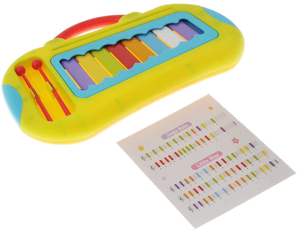 ABtoys Музыкальная игрушка Ксилофон цвет салатовый